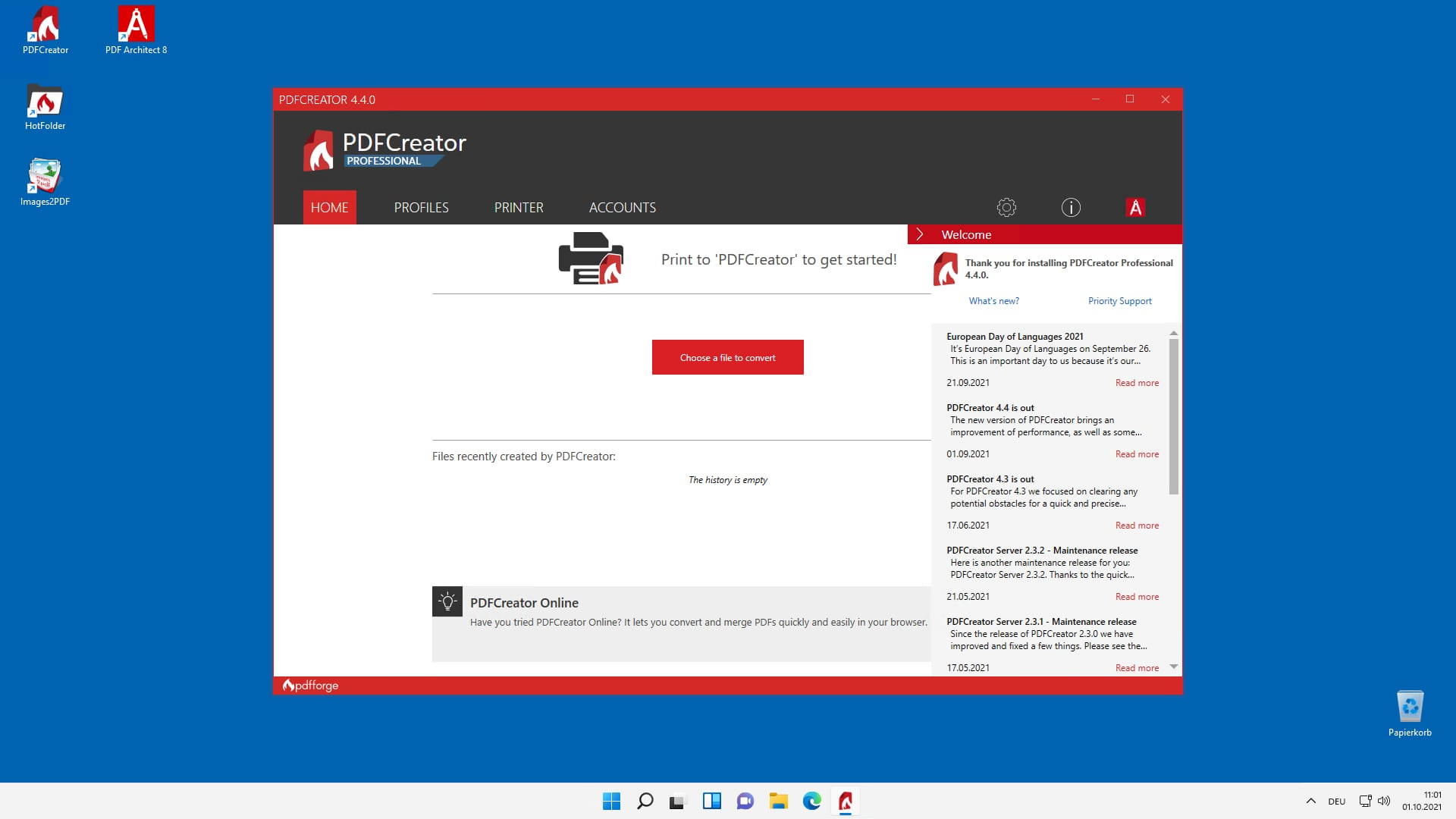 PDFCreator with Windows 11
