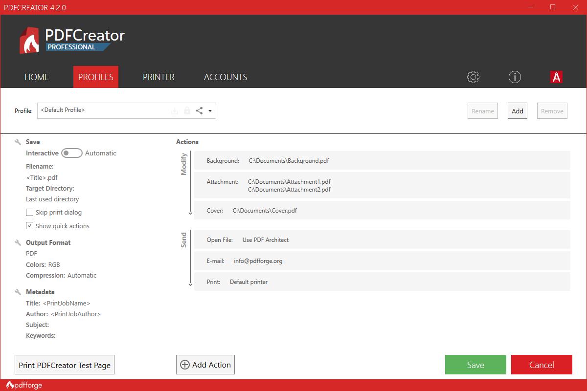 pdfcreator workflow editor
