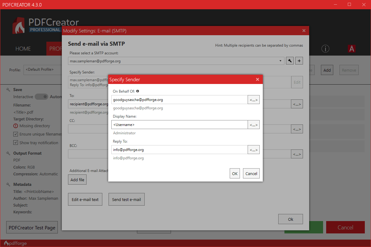 pdfcreator server workflow editor add action
