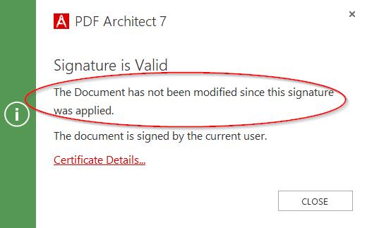 Signature is valid