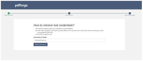 how to recieve lost credencials