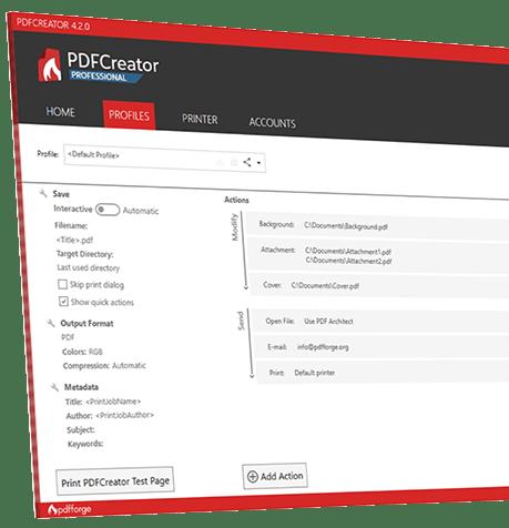 PDFCreator freeware screenshot